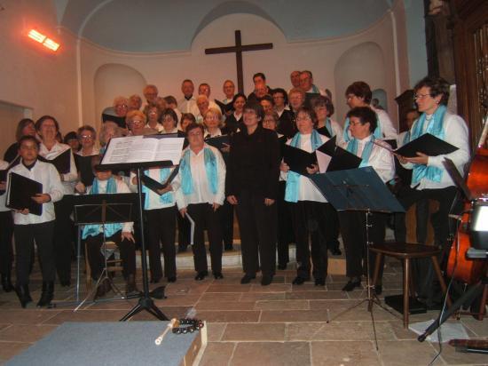 Concert avec la Chorale de Beauvoir, à l'Eglise de Granzay - Décembre 2010