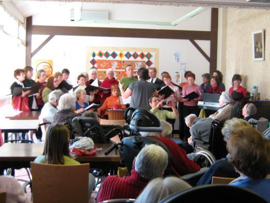 Spectacle à la Maison de Retraite, Saint Valentin 2009